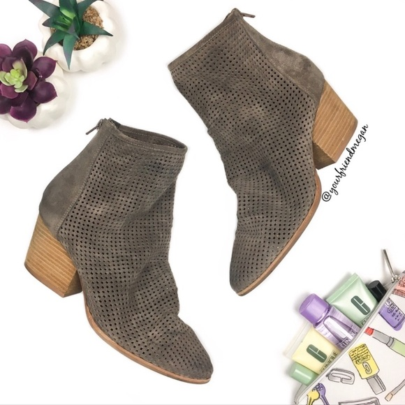 Jeffrey Campbell Shoes - Jeffrey Campbell Jenelle Taupe Perforated Booties